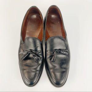 Allen Edmonds Black Slip On loafers with Tassels